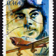 Postage stamp France 2000 shows Antoine de Saint-Exupery, Aviato — Stock Photo #27276723