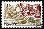 Postage stamp France 1977 shows French Handicrafts — Stock Photo