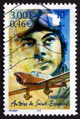 Postage stamp France 2000 shows Antoine de Saint-Exupery, Aviato — Stock fotografie