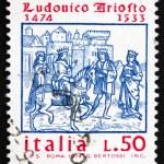Постер, плакат: Postage stamp Italy 1974 Ludovico Ariosto Poet