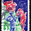 Postage stamp France 1976 shows Paris Summer Festival — Stock Photo