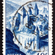 Postage stamp France 1948 shows View of Conques, Aveyron — Stock Photo