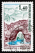 Postage stamp France 1971 Pont d'Arc, Ardeche Gorge — Stok fotoğraf