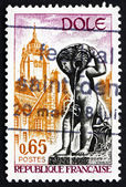 Postage stamp France 1971 Fountain and Tower, Dole, Jura — Stock Photo