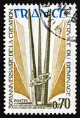 Postage stamp France 1975 shows Monument, by Joseph Riviere — Stock Photo