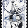 Stock Photo: Postage stamp France 1956 Basketball, Team Sport