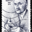 Stock Photo: Postage stamp France 1988 JeMonnet, Honorary Citizen of Europ