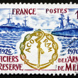 Postage stamp France 1976 Destroyers, Association Emblem — Stock Photo #27392403