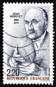 Postage stamp France 1988 Jean Monnet, Honorary Citizen of Europ — Stock Photo