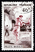 Postage stamp France 1956 Basque Pelota, Jai Alai, Team Sport — Stock Photo