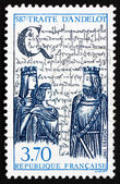 Postage stamp France 1987 Treaty of Andelot, 1400th Anniversary — Stock Photo