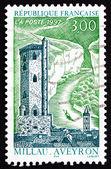 Postage stamp France 1997 Belfry Tower, Millau — Stock Photo
