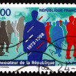 Stock Photo: Postage stamp France 1998 Office of Mediator of Republic