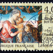 Postage stamp France 1992 Virgin and Child Beneath Garland — Stok Fotoğraf #27431497