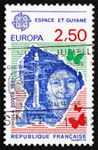 Postage stamp France 1991 Ariane Launch Site, French Guiana — Stock Photo