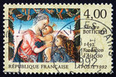 Postage stamp France 1992 Virgin and Child Beneath a Garland — Stock Photo