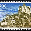 Postage stamp France 1998 Chateau de Crussol, Ardeche — Stock Photo