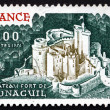 Postage stamp France 1976 Chateau Fort de Bonaguil — Stock Photo