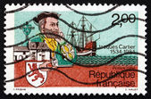 Postage stamp France 1984 Jacques Cartier, Explorer — Stock Photo