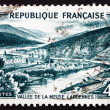Postage stamp France 1949 View of Meuse Valley, Ardennes — Stock Photo