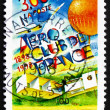 Stock Photo: Postage stamp France 1998 Aero Club of France, Centenary