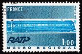 Postage stamp France 1975 Metro Regional Train — Stock Photo