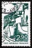 γραμματόσημο γαλλία 1981 δες crest, drome — 图库照片