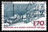 Postage stamp France 1984 La Grande Chartreuse Monastery — Stock Photo