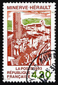 Postage stamp France 1993 Village of Minerve, Herault — Stock Photo
