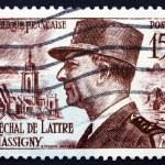 Постер, плакат: Postage stamp France 1952 Jean de Lattre de Tassigny Marshal