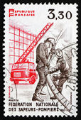 Postage stamp France 1982 Firefighters in Action — Stock Photo