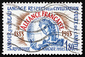Postage stamp France 1983 Alliance Francaise Centenary — Stock Photo