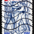 Stock Photo: Postage stamp France 1988 Alpine Troops, Centenary