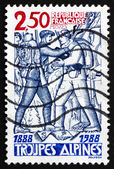 Postage stamp France 1988 Alpine Troops, Centenary — Stock Photo