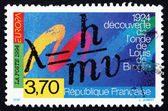 Postage stamp France 1994 Formula for Wave Properties of Matter — Stock Photo
