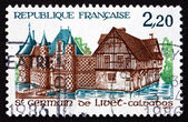Postage stamp France 1986 Norman Manor, St. Germain de Livet — Stock Photo