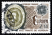 Postage stamp France 1982 Treaty of Verdun, 843 — Stock Photo