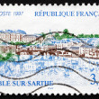Postage stamp France 1997 View of Sable-Sur-Sarthe, Pays de la L — Stock Photo