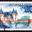 Postage stamp France 1961 Sully-sur-Loire Chateau, Loiret — Stock Photo