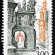 Postage stamp France 1997 Guimiliau Church Close, Finistere — Stock Photo