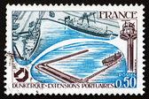 邮票法国 1977年敦刻尔克港 — 图库照片
