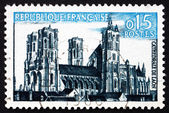 Postage stamp France 1960 Laon cathedral, Laon, Picardy — Stock Photo