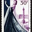 Stock Photo: Postage stamp France 1953 Mannequin, Dressmaking industry