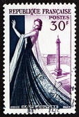 Postage stamp France 1953 Mannequin, Dressmaking industry — Stock Photo