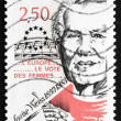 Stock Photo: Postage stamp France 1993 Louise Weiss, Suffragist