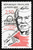 Postage stamp France 1993 Louise Weiss, Suffragist — Stock Photo