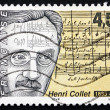 Stock Photo: Postage stamp France 1998 Henri Collet, French Composer