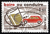 Postage stamp France 1981 Drink or Drive, Highway Safety — Stockfoto