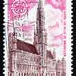 Postage stamp France 1973 City Hall, Brussels — Stock Photo