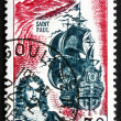 Postage stamp France 1965 Etienne Regnault and Coast of Reunion — Stock Photo